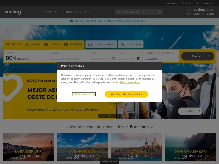 International Program Vueling screenshot