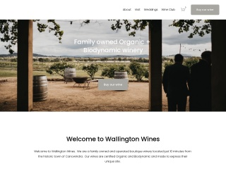 Screenshot for wallingtonwines.com.au