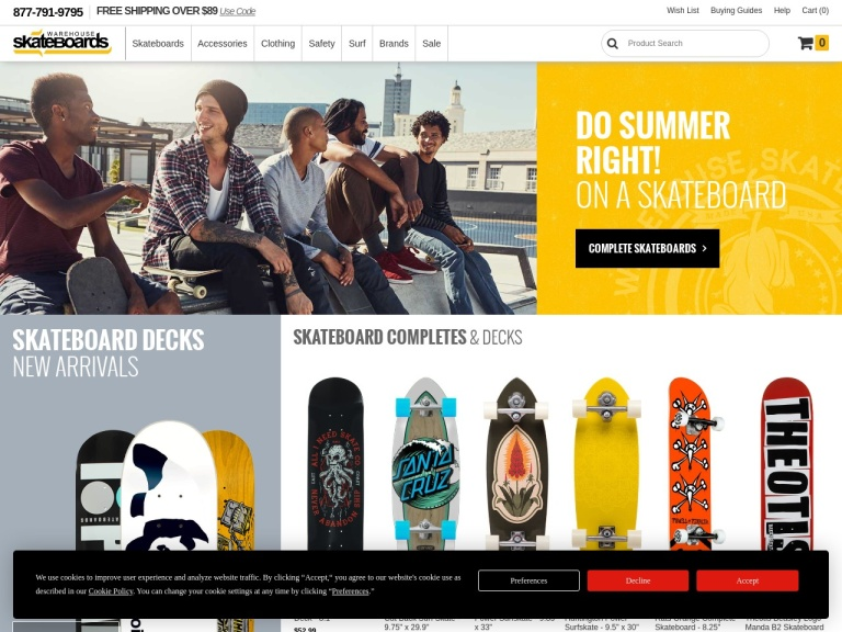 Warehouse Skateboards screenshot