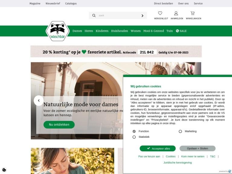 Waschbaer.nl screenshot