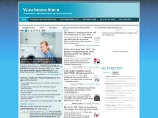 Screenshot der Website waschmaschinenvergleiche.de