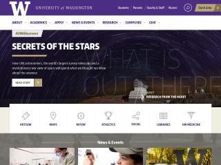 Screenshot for washington.edu