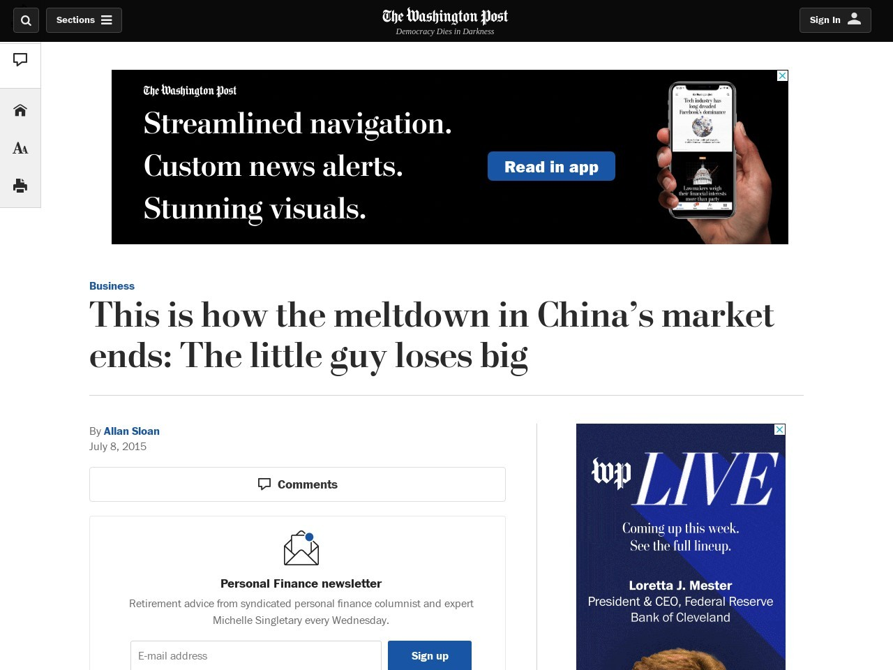This is how the meltdown in China's market ends: The little guy loses big