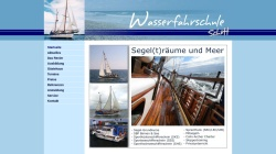 www.wasserfahrschule.de Vorschau, Segelschule Travemünde