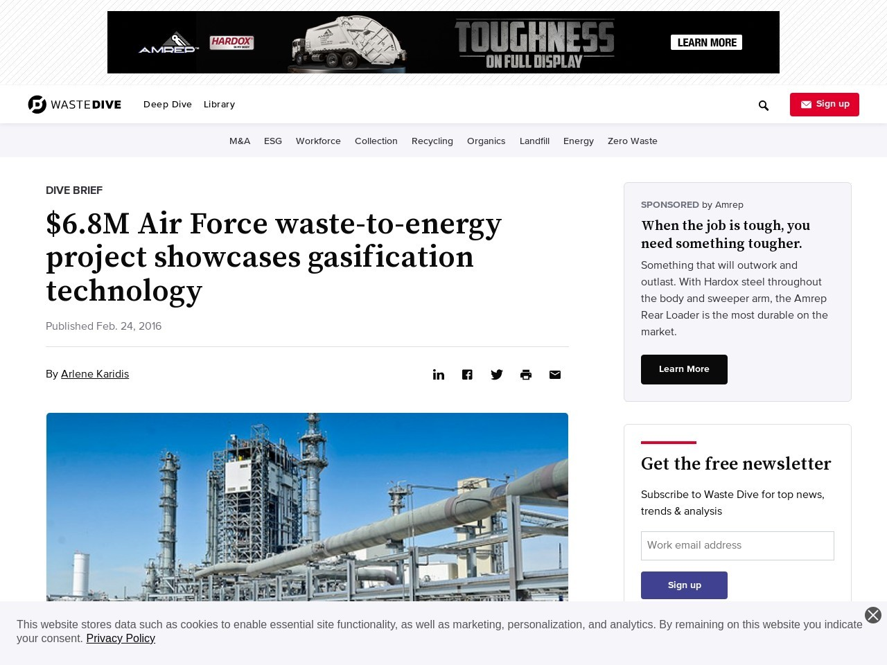 $6.8M Air Force waste-to-energy project showcases gasification technology