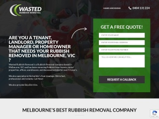 Screenshot for wastedrubbishremoval.com.au