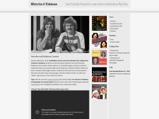 Screenshot der Website waterlooundrobinson.at