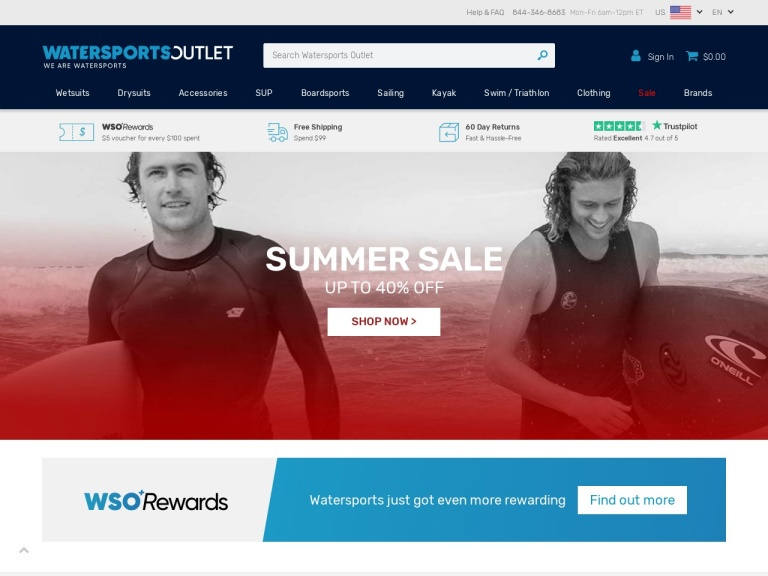 Watersports Outlet screenshot