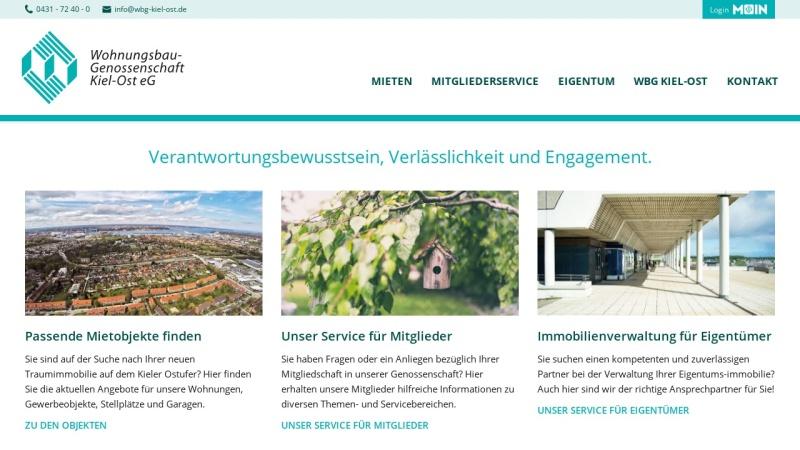 www.wbg-kiel-ost.de Vorschau, Wohnungsbau-Genossenschaft Kiel-Ost eG