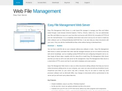 Web File Management screenshot
