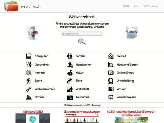 Screenshot der Website web-links.ch