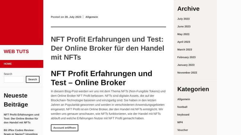 www.web-tuts.de Vorschau, Web Tuts