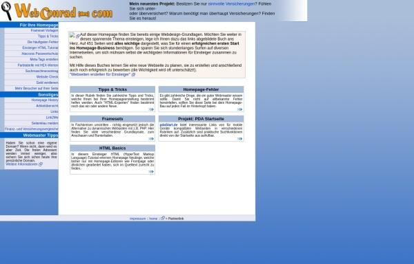 Vorschau von www.webconrad.com, Homepage Tipps