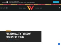 7 Personality Types of Designers Today