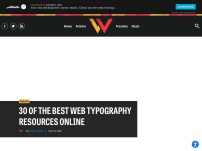 30 of the Best Web Typography Resources Online