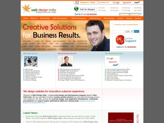 Screenshot for webdesignindia.in