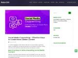 Social media content development   Article writing on social media