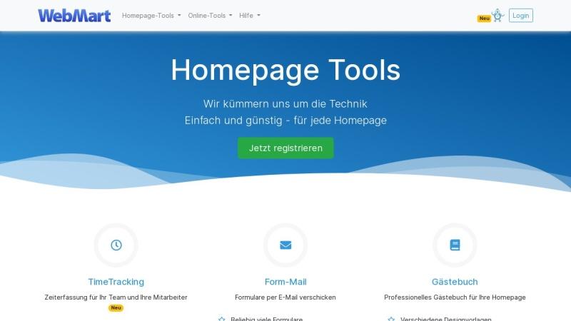 www.webmart.de Vorschau, WebMart-Shop