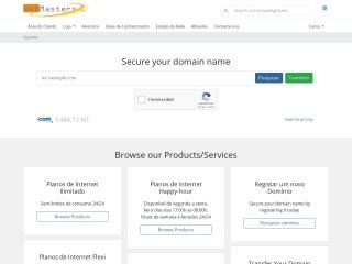 Screenshot do site webmasters.co.mz