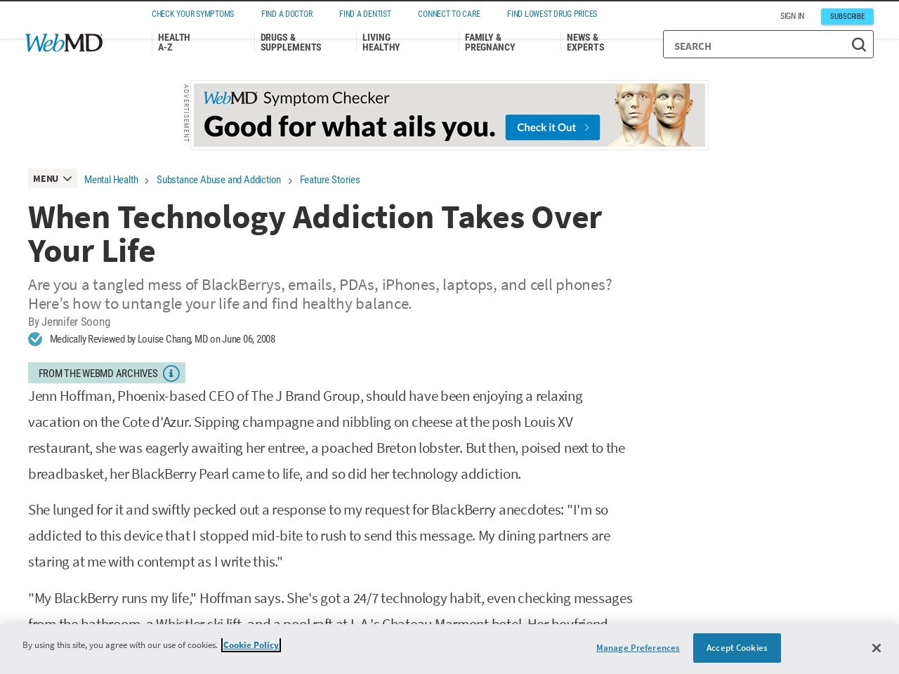 When Technology Addiction Takes Over Your Life – WebMD