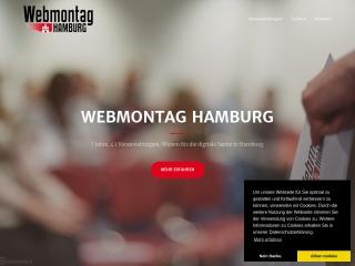 Screenshot der Website webmontag-hamburg.de