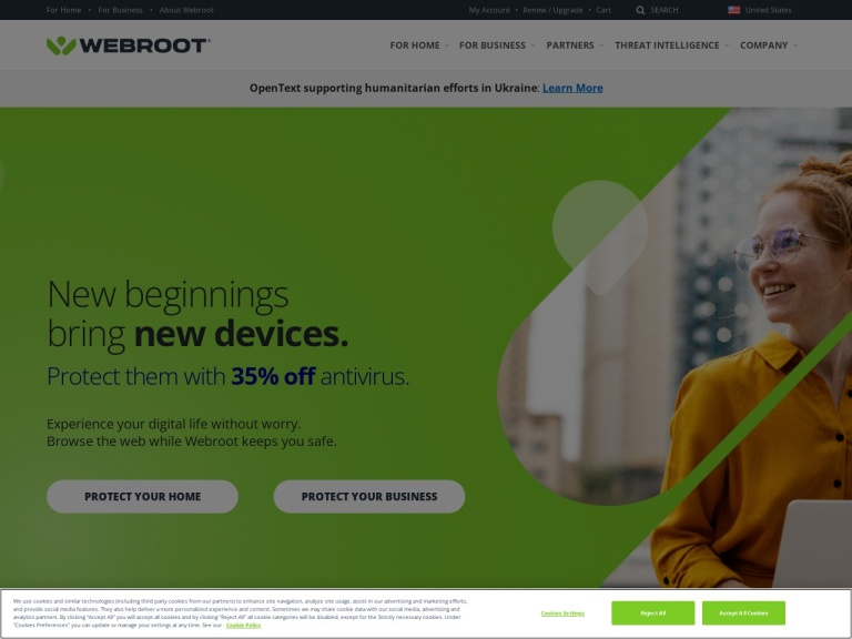 Webroot Software screenshot