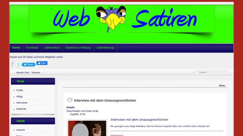 www.websatiren.de Vorschau, Websatiren