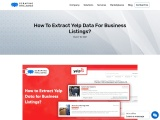 How to Extract Yelp Data for Business Listings?
