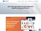 How to Scrape Flipkart Product Data with Beautiful Soup and Python?
