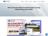 How to Scrape Zillow for Real Estate Listings using Python and LXML