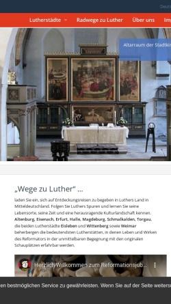 Vorschau der mobilen Webseite www.wege-zu-luther.de, Wege zu Luther