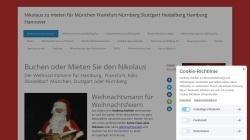 www.weihnachtsmann-nikolaus.de Vorschau, Weihnachtsmannvermittlung für Süddeutschland