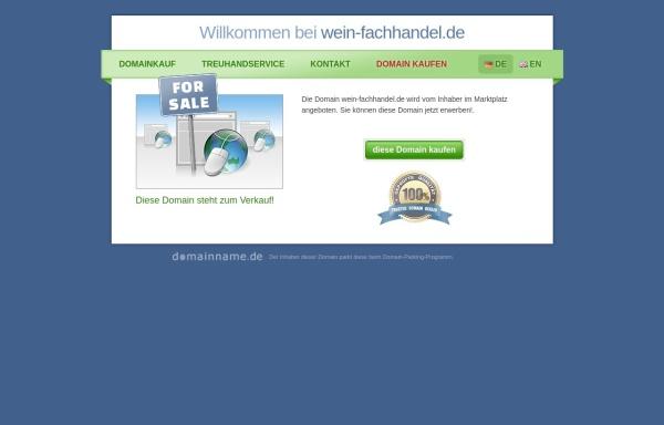Vorschau von www.wein-fachhandel.de, Wein Fachhandel
