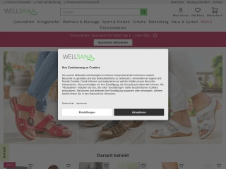Screenshot der Website wellsana.at