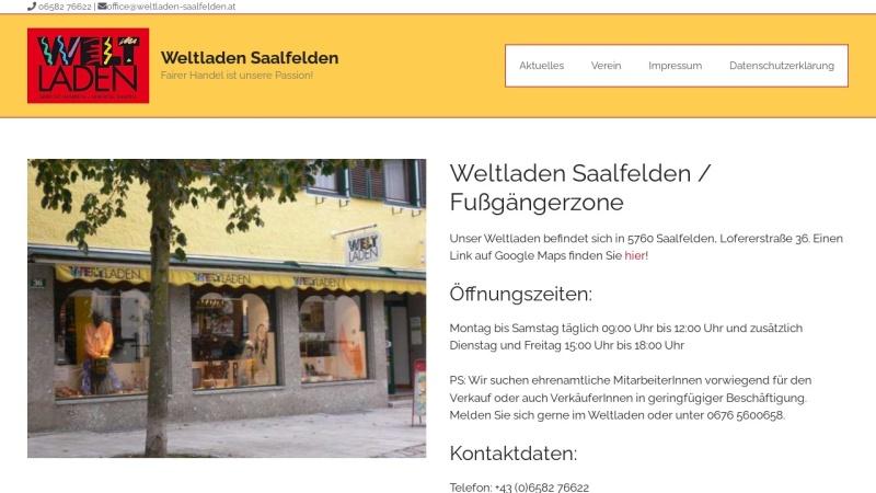 www.weltladen-saalfelden.at Vorschau, Weltladen Saalfelden