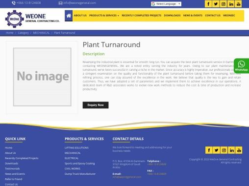 Plant Turnaround Service in Dammam