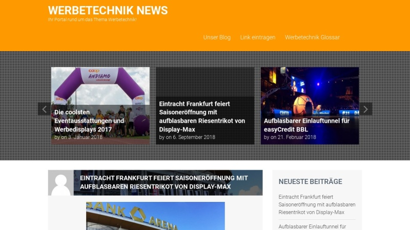 www.werbetechnik-news.de Vorschau, Werbetechnik News