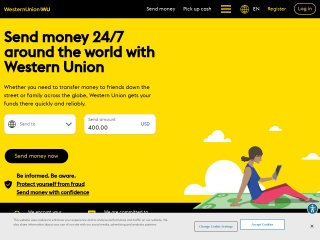 Screenshot for westernunion.com