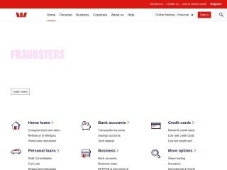 Screenshot for westpac.com.au