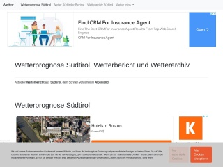 screenshot wetterprognose.it