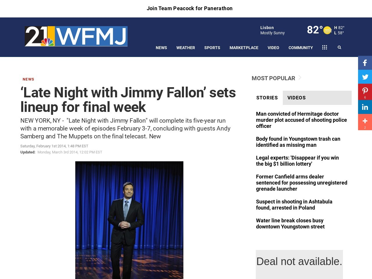 'Late Night with Jimmy Fallon' sets lineup for final week