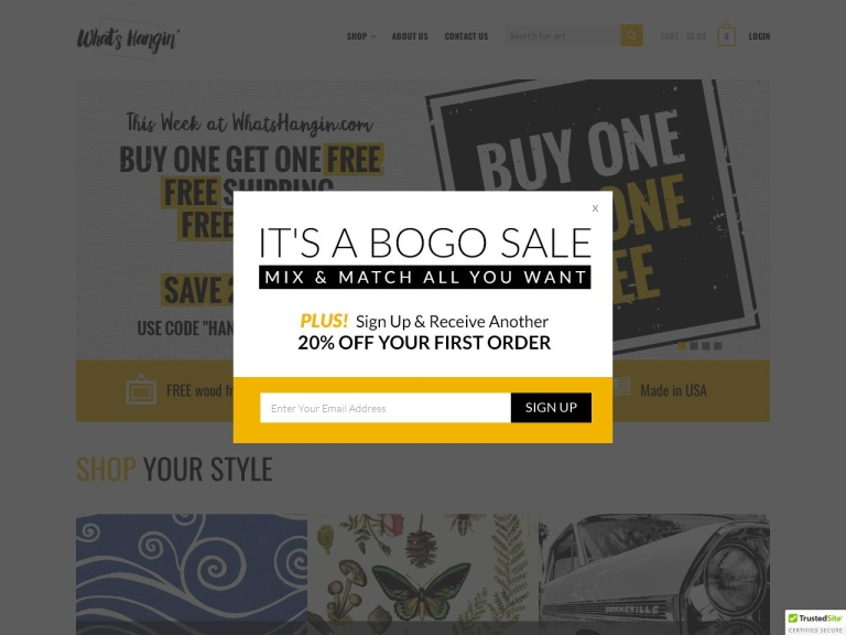 What's Hangin' Coupon Codes