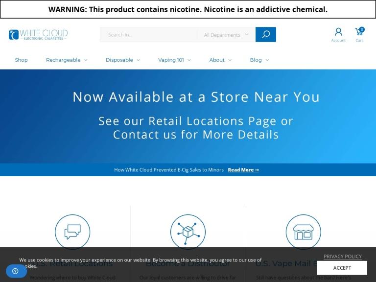 White Cloud Electronic Cigarettes screenshot