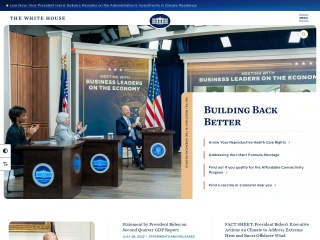 Screenshot der Website whitehouse.gov