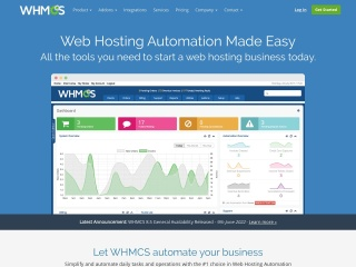 Screenshot for whmcs.com