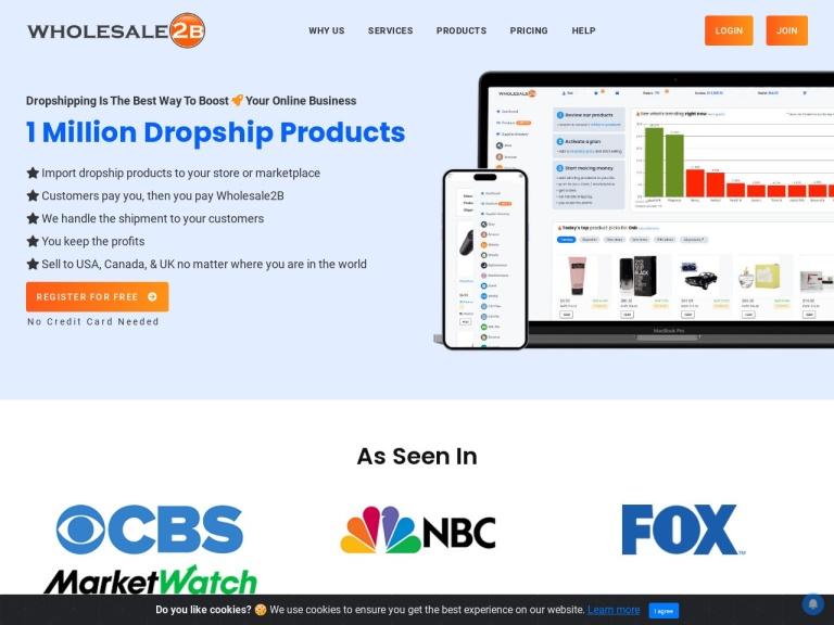 Wholesale2b screenshot