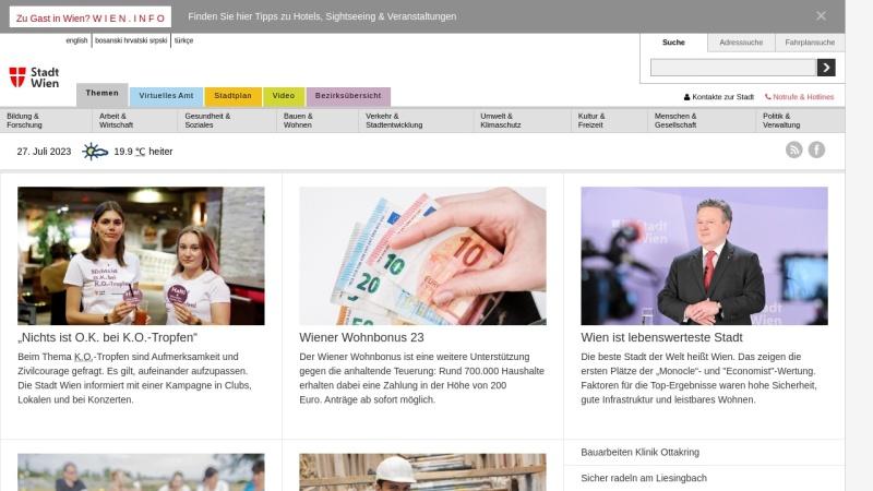 www.wien.gv.at Vorschau, Wien Online