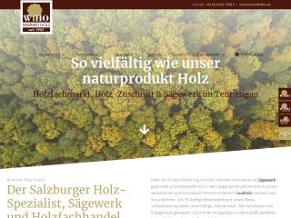 Screenshot der Website wiho.at