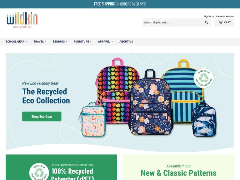Wildkin.com screenshot