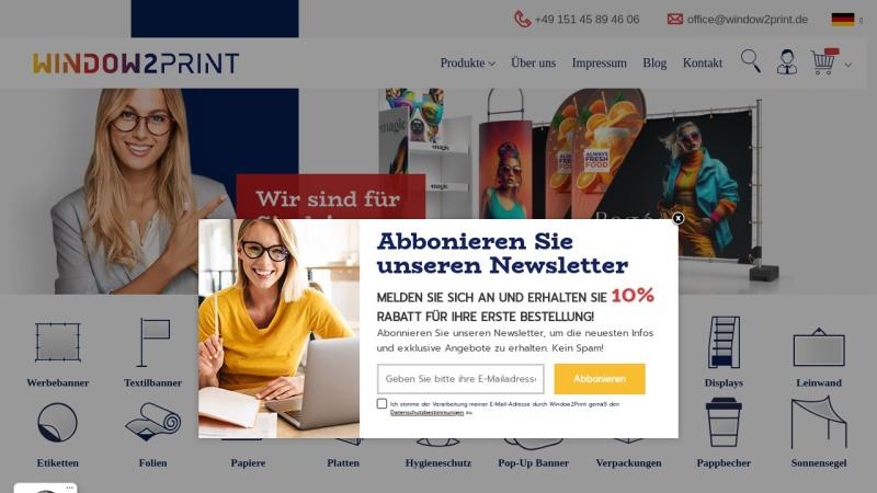 www.window2print.de Vorschau, Window2Print